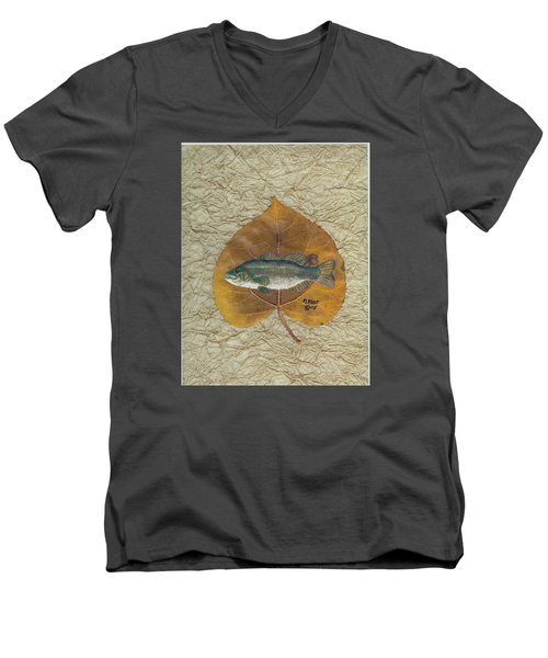 Large Mouth Bass #3 Men's V-Neck T-Shirt by Ralph Root