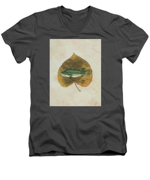 Large Mouth Bass Men's V-Neck T-Shirt