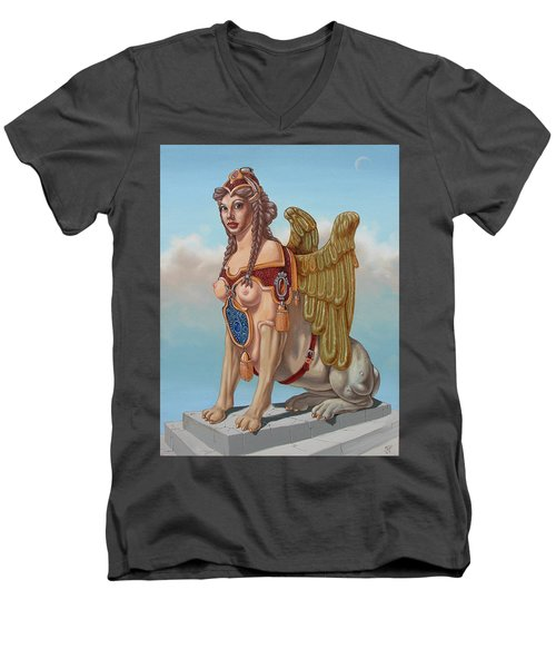 Large Sphinx Of The Vienna Belvedere Men's V-Neck T-Shirt