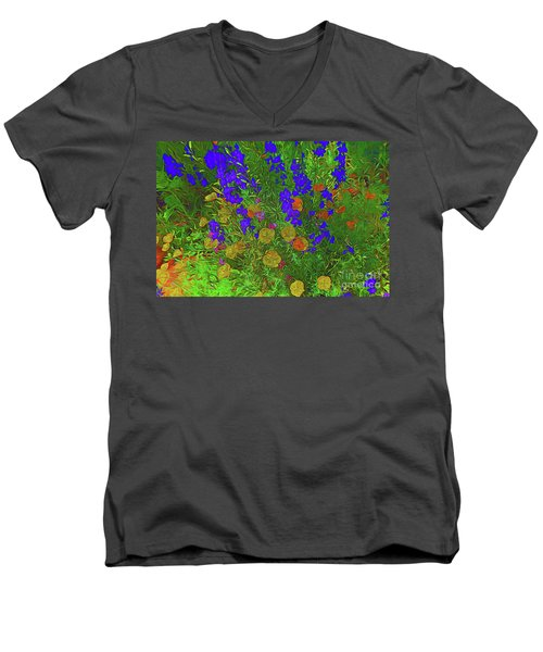 Larkspur And Primrose Garden 12018-3 Men's V-Neck T-Shirt