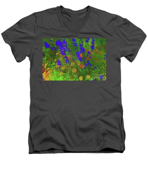 Larkspur And Primrose Garden 12018-3 Men's V-Neck T-Shirt