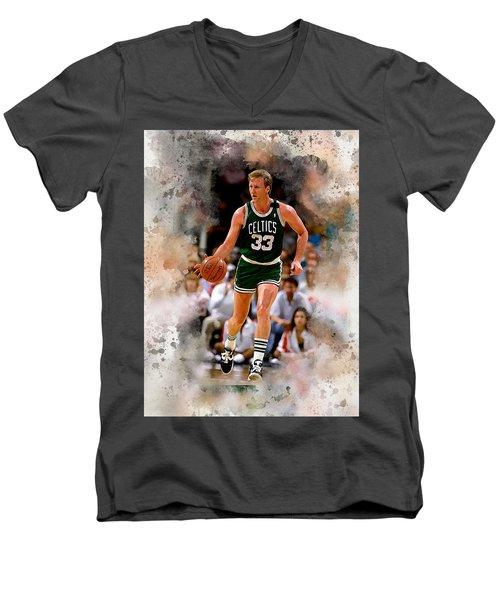 Larry Bird Men's V-Neck T-Shirt