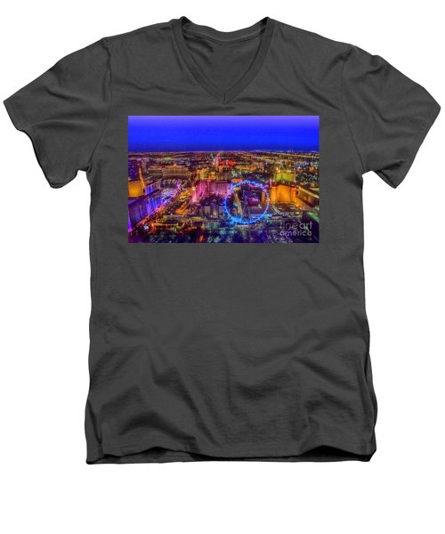 Las-vegas Aerial Golden Hour Men's V-Neck T-Shirt