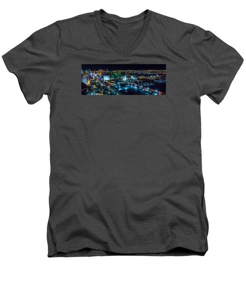 Las Vegas Looking North Men's V-Neck T-Shirt