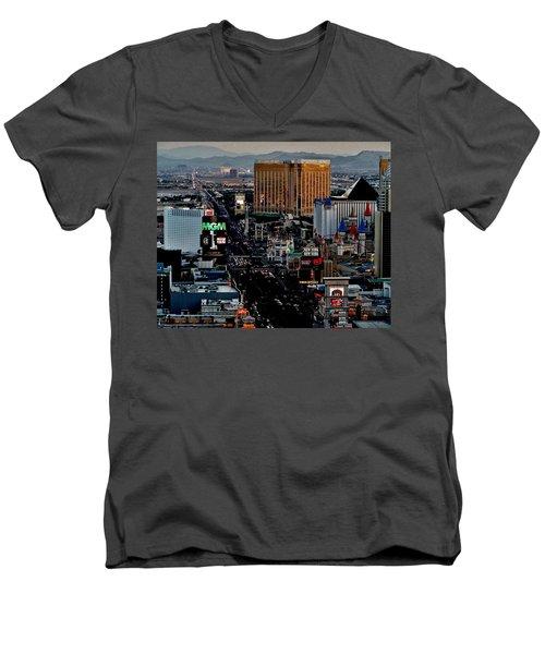 Las Vegas Strip Men's V-Neck T-Shirt