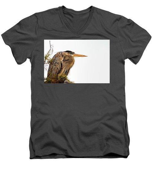 Laser Gaze Men's V-Neck T-Shirt by Cyndy Doty