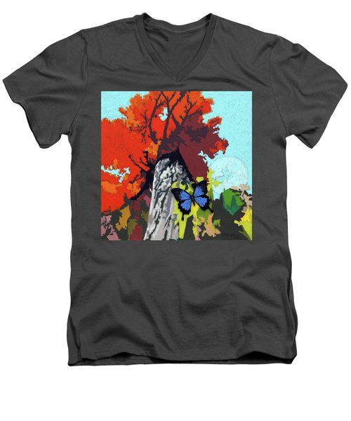 Last Butterfly Before Winter Men's V-Neck T-Shirt