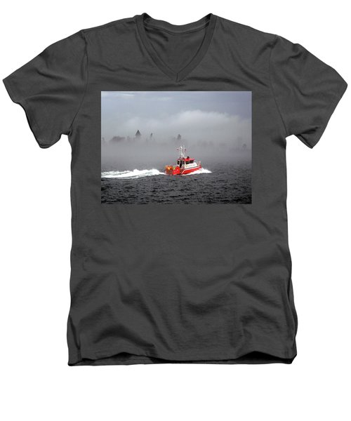 Last Chance Off Calument Island Men's V-Neck T-Shirt