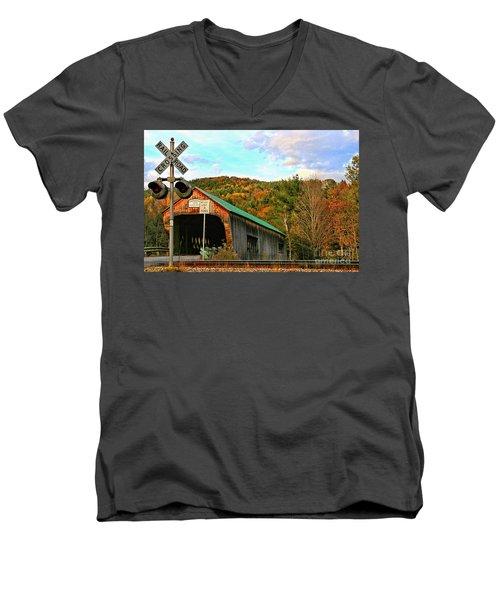 Men's V-Neck T-Shirt featuring the photograph Last Days by DJ Florek