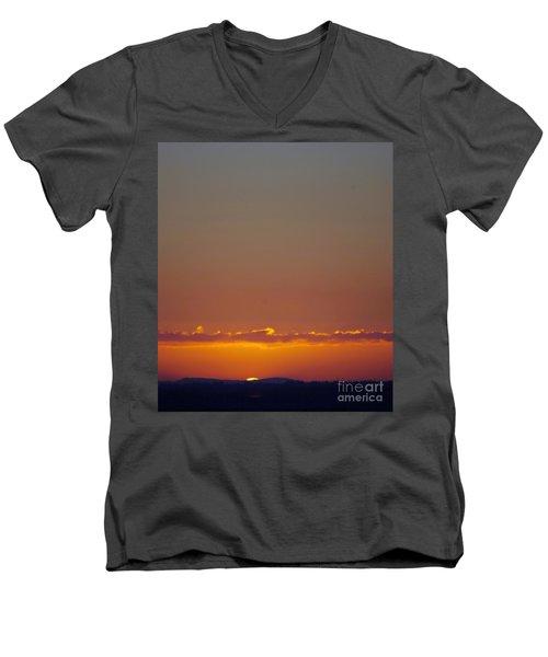 Last Glance Men's V-Neck T-Shirt by Victor K