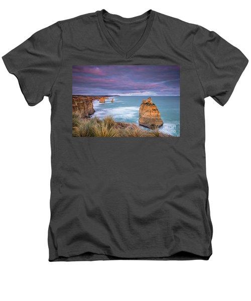 Last Light Of Day Men's V-Neck T-Shirt
