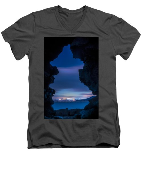 Last Light Through Lava Men's V-Neck T-Shirt
