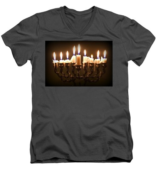 Last Night Of Chanukah Men's V-Neck T-Shirt