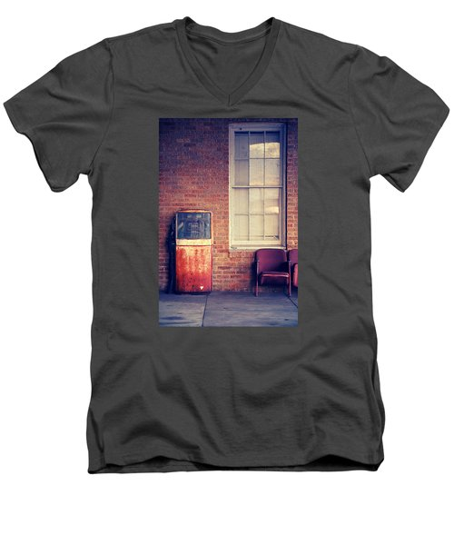 Men's V-Neck T-Shirt featuring the photograph Last Pump Standing by Trish Mistric