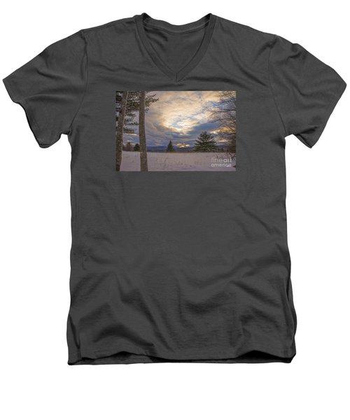 Last Sunset Of 2015 Men's V-Neck T-Shirt by Alana Ranney