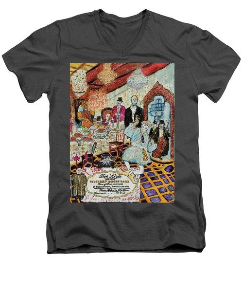 Last Supper, Dark Knight Men's V-Neck T-Shirt by Lindsay Strubbe