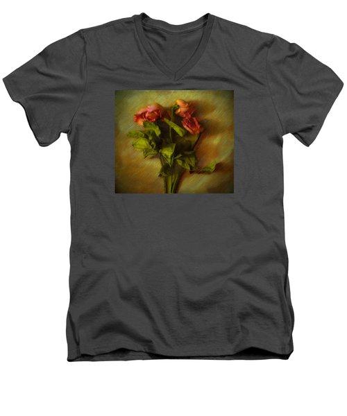 Lasting Love Men's V-Neck T-Shirt by Cedric Hampton