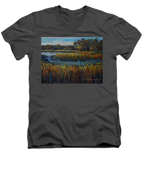 Late Afternoon Men's V-Neck T-Shirt by Dorothy Allston Rogers