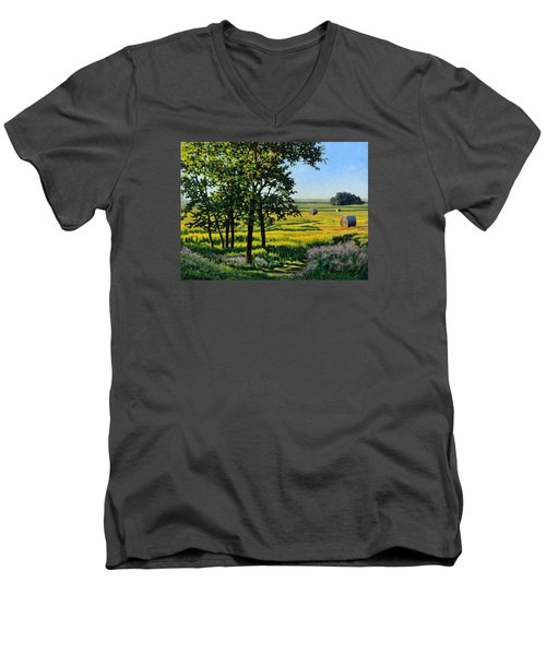 Late Afternoon Pasture Men's V-Neck T-Shirt