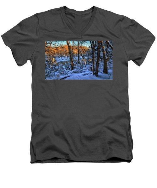 Late Afternoon Winter Light Men's V-Neck T-Shirt