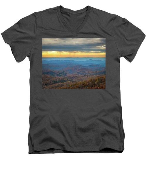 Late Autumn Vista Men's V-Neck T-Shirt