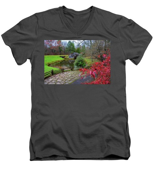 Late Fall At Mabry Mill Men's V-Neck T-Shirt