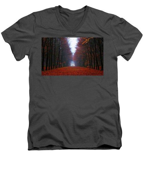Late Fall Forest Men's V-Neck T-Shirt