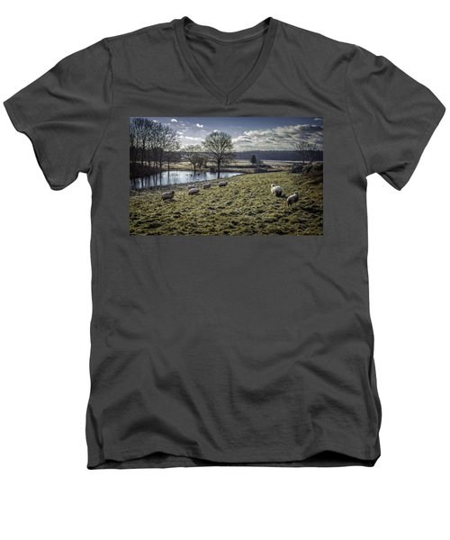 Late Fall Pastoral Men's V-Neck T-Shirt