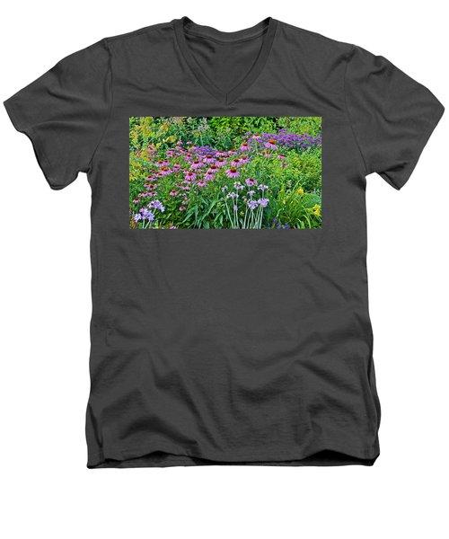 Late July Garden 2 Men's V-Neck T-Shirt