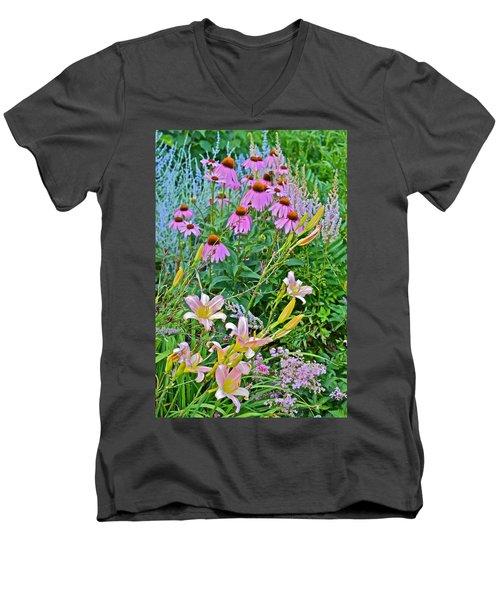 Late July Garden 3 Men's V-Neck T-Shirt