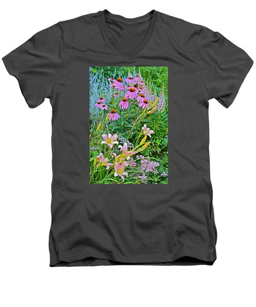 Late July Garden 3 Men's V-Neck T-Shirt