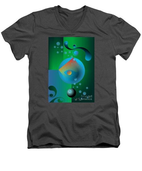 Late Night Prayer Men's V-Neck T-Shirt by Leo Symon