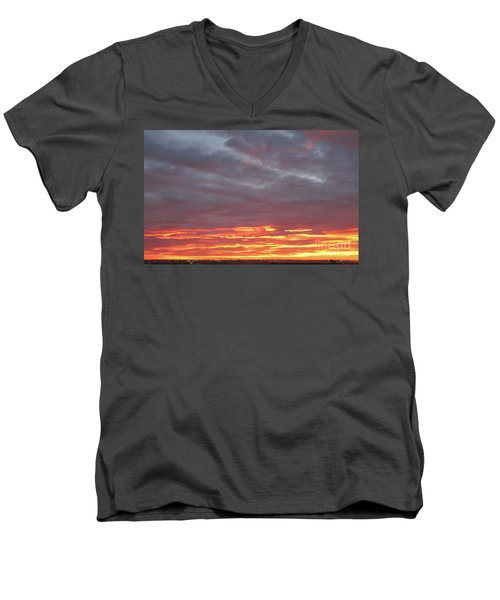 Late Prairie Sunrise Men's V-Neck T-Shirt