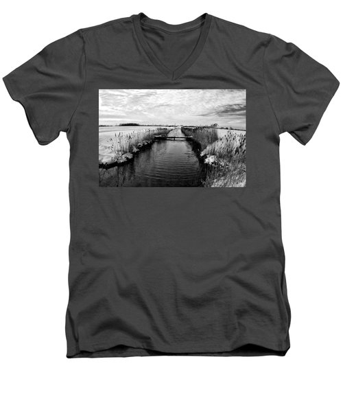 Late Spring Men's V-Neck T-Shirt by Kevin Cable