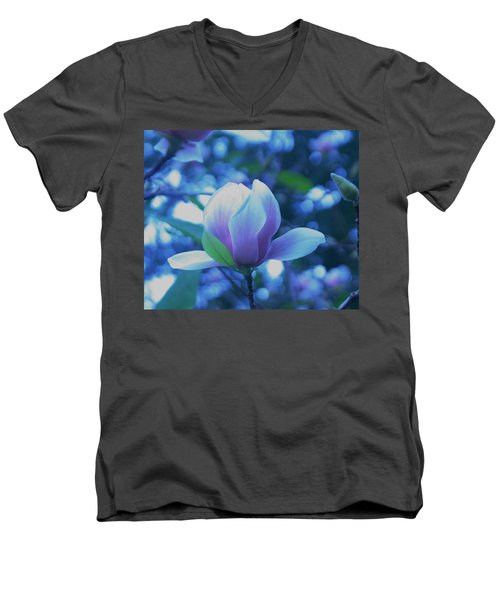 Men's V-Neck T-Shirt featuring the photograph Late Summer Bloom by John Glass