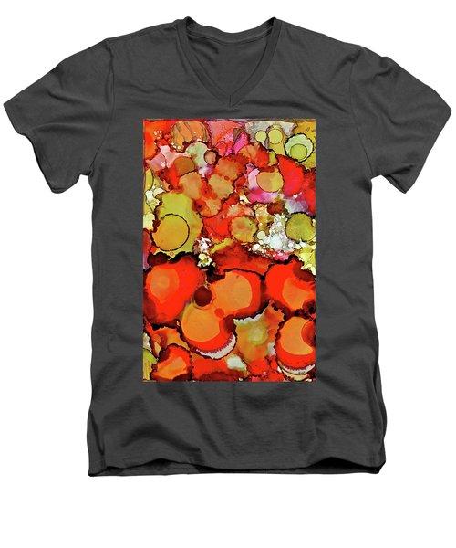 Late Summer Flowers Men's V-Neck T-Shirt