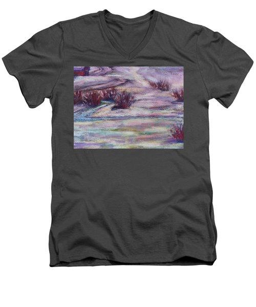 Late Winter Light Men's V-Neck T-Shirt by Becky Chappell