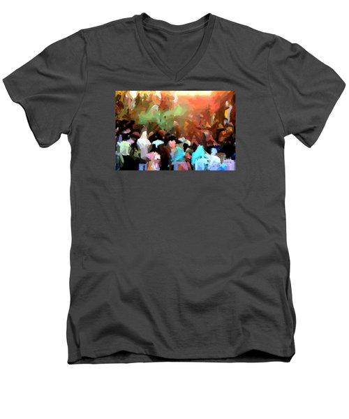 Lathmaar Holi Of Barsana-4 Men's V-Neck T-Shirt