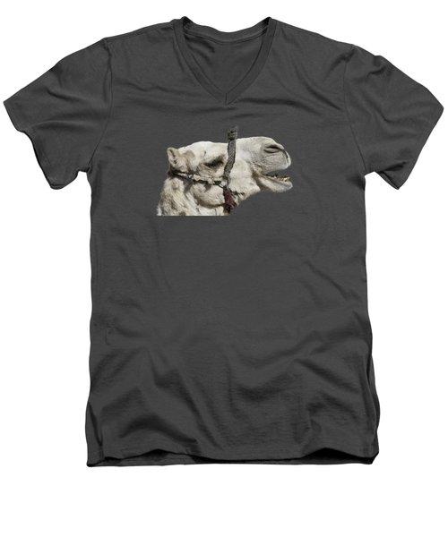 Laughing Camel Men's V-Neck T-Shirt by Roy Pedersen