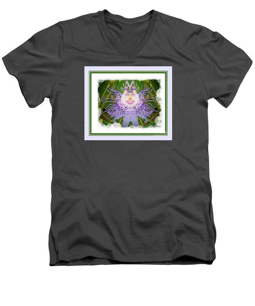 Laughing Flower Men's V-Neck T-Shirt