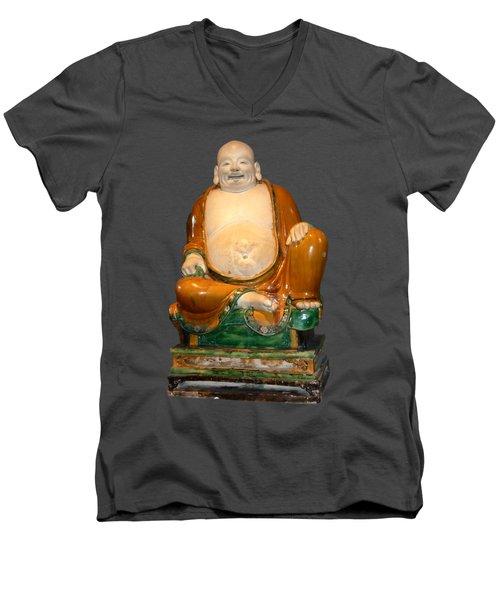 Laughing Monk Men's V-Neck T-Shirt