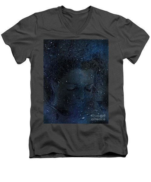Eat At Judys Laura Palmer Carrie Page Nebula Men's V-Neck T-Shirt