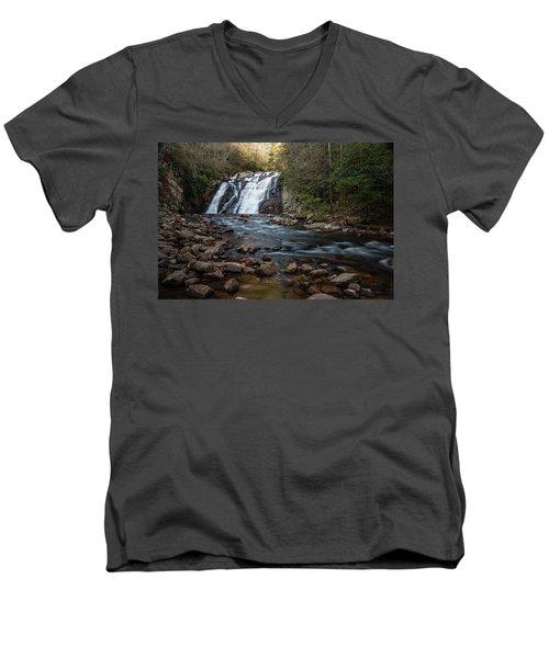 Laurel Falls In Autumn #1 Men's V-Neck T-Shirt