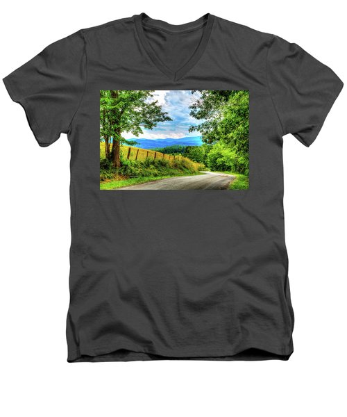 Laurel Hill View Men's V-Neck T-Shirt by Dale R Carlson