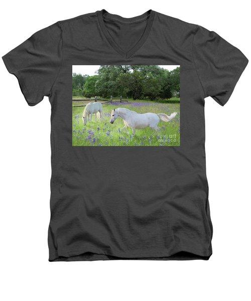 Lavender Pastures Men's V-Neck T-Shirt