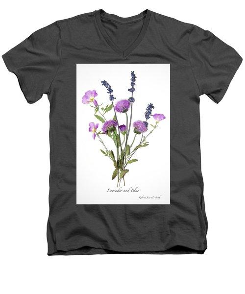 Lavender And Blue Men's V-Neck T-Shirt