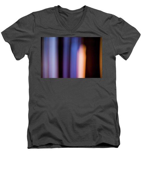 Lavender And Rose Gold No. 2 Men's V-Neck T-Shirt