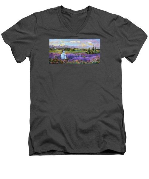 Lavender Splendor  Men's V-Neck T-Shirt