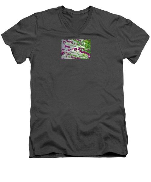 Men's V-Neck T-Shirt featuring the photograph Lavender by Susanne Van Hulst