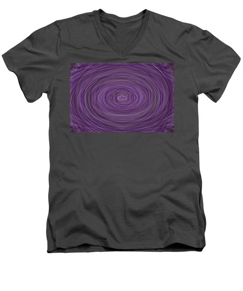 Lavender Vortex Men's V-Neck T-Shirt